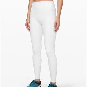 Lululemon White All The Right Places Legging